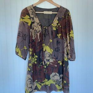 Graham + Spencer silk cotton floral print blouse